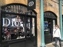 Магазин Dior CD стоковое фото rf