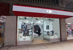 Магазин DJI в NY Стоковое Фото