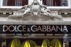Магазин Dolce и Gabbana в Лондоне Стоковые Изображения