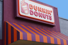 магазин dunkin donuts какао пляжа Стоковые Фото