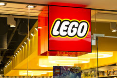 Магазин Lego Стоковые Изображения