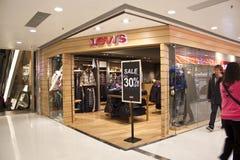 магазин levis Hong Kong стоковое изображение