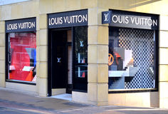 Магазин Louis Vuitton от центра города Бирмингема Стоковая Фотография