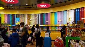 Магазин m&m крутого мира известный в Лас-Вегас стоковое изображение rf