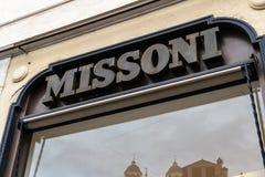 Магазин Missoni стоковые фото