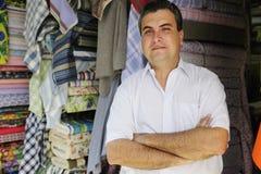 магазин portait предпринимателя ткани стоковые фото