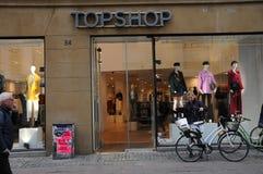 Магазин Topshop в Копенгагене в Копенгагене стоковое изображение rf