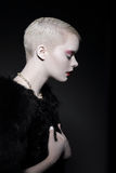 Магнетизм & привлекательность Профиль притягательной стильной блондинкы женщины Стоковые Изображения RF