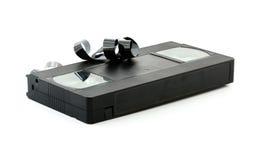Магнитная лента для видеозаписи на белой предпосылке Стоковые Фото
