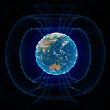 Магнитное поле земли Стоковая Фотография