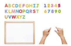 Магнитный комплект алфавита Построьте ваше слово с письмами, whiteboard Стоковые Изображения RF