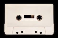 Магнитофонная кассета, белая Стоковые Фото