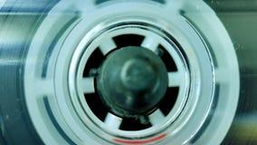 Магнитофонная кассета играя, рекордер ленты звукозаписи акции видеоматериалы