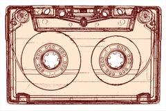 Магнитофонная кассета изолированная на белизне Стоковое Изображение RF