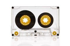 Магнитофонная кассета изолированная на белой предпосылке Стоковое фото RF