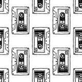 Магнитофонная кассета Искусство для дизайна футболки Стоковое Изображение RF