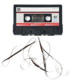 магнитофонная кассета приходя вне лента Стоковое Изображение