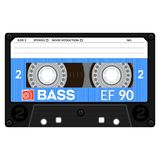 магнитофонная кассета ретро Стоковое Фото
