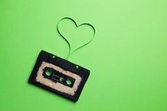Магнитофонная кассета с магнитной лентой Стоковое Фото