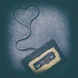 Магнитофонная кассета с магнитной лентой Стоковая Фотография