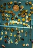 Магниты сувенира, ручной работы, март 2019 стоковые фото