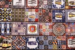 Магниты сувенира холодильника имитируя португальские плитки иллюстрация штока