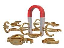магнит евро золотистый Стоковая Фотография RF