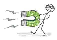 Магнит, клеймить работодателя бесплатная иллюстрация