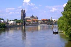 Магдебург в Германии в июле 2012 стоковое фото rf