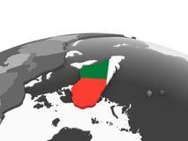 Мадагаскар с флагом на глобусе бесплатная иллюстрация