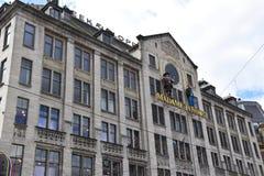 Мадам Tussauds на улице запруды в Амстердаме, Голландии, Нидерланд стоковое фото