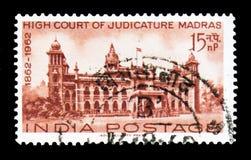 Мадрас, столетие индийского serie высших судов, около 1962 стоковые фотографии rf