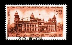 Мадрас, столетие индийского serie высших судов, около 1962 стоковое фото rf