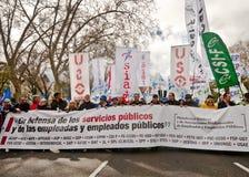 Демонстрация в Мадриде M10 Стоковое Изображение