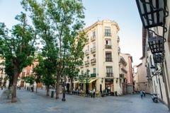 МАДРИД ИСПАНИЯ - 23-ЬЕ ИЮНЯ 2015: Площадь de San Miguel Стоковая Фотография RF