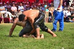 Мазеподобный wrestling спорт для турков Стоковая Фотография