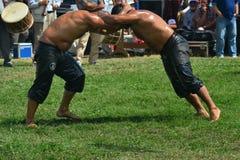 Мазеподобный wrestling спорт для турков Стоковое Изображение