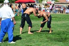 Мазеподобный wrestling спорт для турков Стоковые Изображения RF
