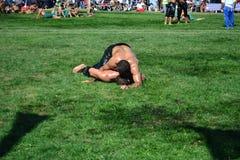 Мазеподобный wrestling спорт для турков Стоковые Изображения