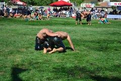 Мазеподобный wrestling спорт для турков Стоковое Изображение RF