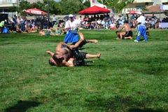 Мазеподобный wrestling спорт для турков стоковые фото