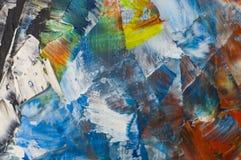 Мазки краски масла на jpg фото иллюстрации холста Стоковая Фотография