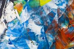Мазки краски масла на jpg фото иллюстрации холста Стоковое Изображение