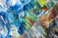 Мазки краски масла на jpg фото иллюстрации холста Стоковые Фотографии RF