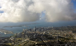 Майами, Флорида от воздуха Стоковая Фотография RF