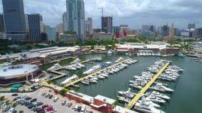 Майами Bayside Флорида сток-видео
