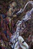 Майкл Brecker, картина маслом, художник римское Nogin, звуки ` серии джаза ` Стоковые Изображения RF