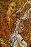 Майкл Brecker, картина маслом, художник римское Nogin, звуки ` серии джаза ` Стоковое Фото