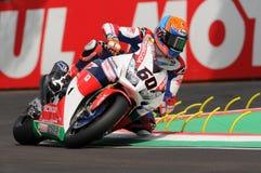 Майкл фургон der Отмечать - команда Superbike мира SP Honda NED Honda CBR1000RR Стоковое Изображение