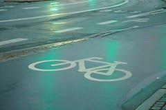 Майна велосипеда в дожде Стоковая Фотография